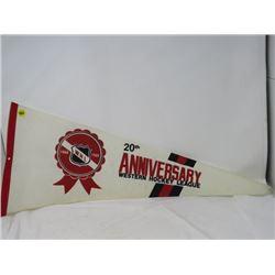 HOCKEY PENNANT (20TH ANNIVERSARY WESTERN HOCKEY LEAGUE 1966-1986)