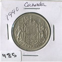 CANADIAN 50 CENT COIN (1940)