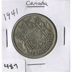 CANADIAN 50 CENT COIN (1941)