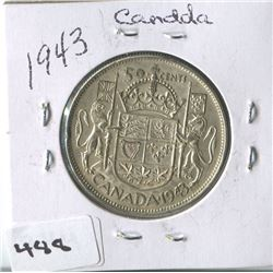 CANADIAN 50 CENT COIN (1943)