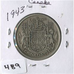 CANADIAN 50 CENT COIN 1943)