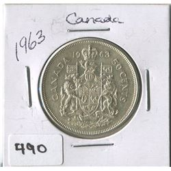 CANADIAN 50 CENT COIN (1963)