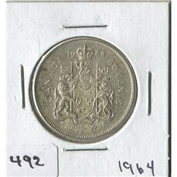 CANADIAN 50 CENT COIN (1964)