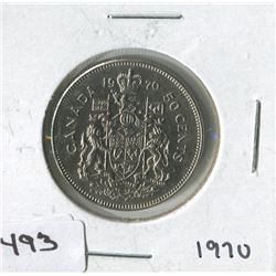 CANADIAN 50 CENT COIN 1970)