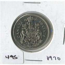 CANADIAN 50 CENT COIN (1970)