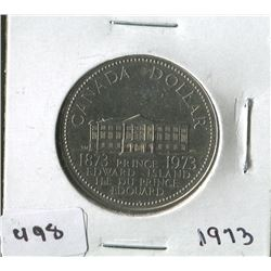 CANADIAN ONE DOLLAR COIN  (PRINCE EDWARD ISLAND) *1873-1973*