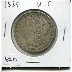 1889 US MORGAN SILVER DOLLAR