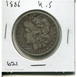 1886 US MORGAN SILVER DOLLAR