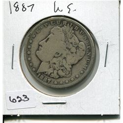 1887 US MORGAN SILVER DOLLAR