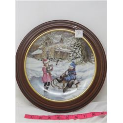 COLLECTOR PLATE (FROSTY & FRIENDS #161) *FRAMED*