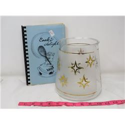 COOKIE JAR (NO LID) & COOK BOOK (COOK'S DELIGHT)