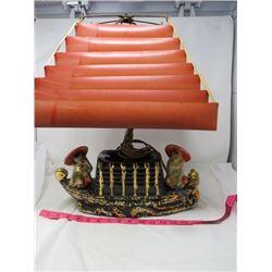 ORIENTAL LAMP W/SHADE