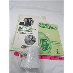 TWO BOOKS (JACK CENNON - 'MENTAL MUNCHINGS' & CREAM PITCHER)