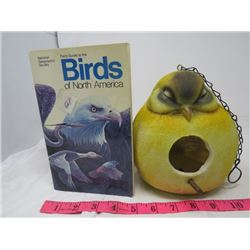 BIRD HOUSE AND BOOK (HOUSE IN SHAPE OF BIRD)