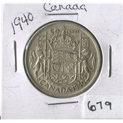 1940 CNDN 50 CENT PC (SILVER)