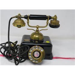ROTARY JK-4 TELEPHONE (VINTAGE, BLACK) *SERIAL NO 084196* (MADE IN JAPAN)