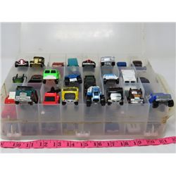 LOT OF 48 HOTWHEEL/MATCHBOX TOYS IN CARRYING CASE