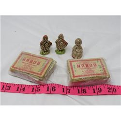 LOT OF WADE FIGURINES (3) AND NABOB COUPONS