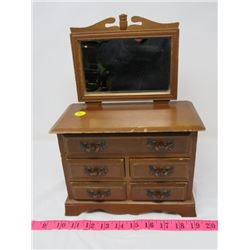 """WOODEN MUSICAL JEWELRY BOX (WORKS) *13"""" X 9½""""*"""