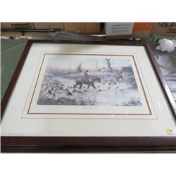 """FRAMED PRINT (CROSSING THE FORD) *32"""" X26""""*"""