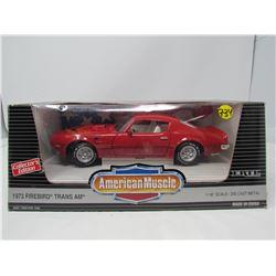 MODEL DIE CAST CAR (1973 PONTIAC TRANS AM) *1:18 SCALE*