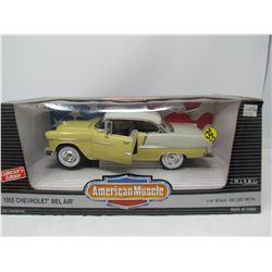 MODEL DIE CAST CAR (1955 CHEVY BELAIR) *1:18 SCALE*
