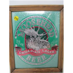 SIGN (MOOSE HEAD) *CANADIAN LAGER 9.5X11.5 INCHES*