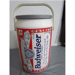 PLASTIC COOLER (BUDWEISER) *LARGE 21 INCHES TALL X 12 INCHES WIDE*