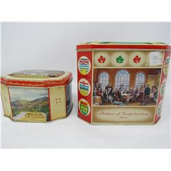 LOT OF 2 CORONATION TINS