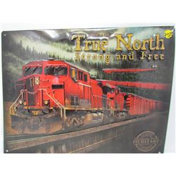 "EMBOSSED TIN SIGN (TRUTH NORTH) *17"" X 12""* *REPRO*"
