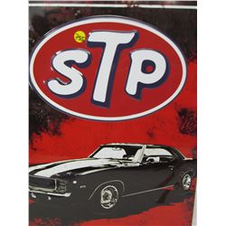"EMBOSSED TIN SIGN (STP '69 CAMARO) *17"" X 12""* (REPRO)"