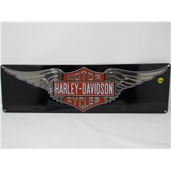 EMBOSSED TIN SIGN (HARLEY DAVIDSON) *23.5 X 7 INCHES* (REPRO)