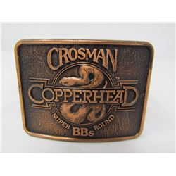 KIDS LEATHER BELT (CROSSMAN BB COPPERHEAD BUCKLE) *27 INCHES LONG *