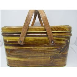 STEEL LUNCH BOX (VINTAGE) *14 X 10 X 8 INCHES*