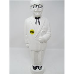 PLASTIC PIGGY BANK (COLONEL SAUNDERS) *12.5 INCHES TALL*