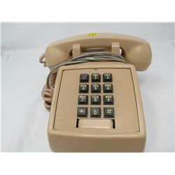 TOUCHTONE TABLETOP TELEPHONE (MADE IN CANADA) *SALMON COLORED*