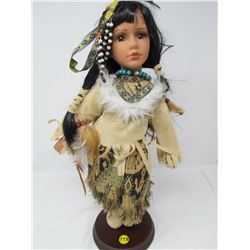 AMERICAN NATIVE FEMALE DOLL (DYNASTY DOLL COLLECTION) *17 INCHES TALL*