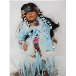 AMERICAN NATIVE FEMALE DOLL (HANGING ON SWING) *18 INCHES TALL*