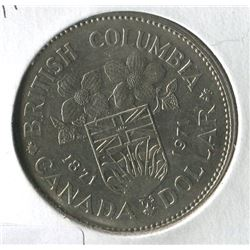 1971 BRITISH COLUMBIA CNDN DOLLAR COIN