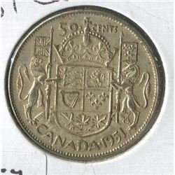 1951 CNDN 50 CENT PC (SILVER)
