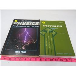 LOT OF 2 BOOKS (PHYSICS BY ANDREW RIEMAN, PHYSICS AN EXAMINATION COURSE BY HULTON)