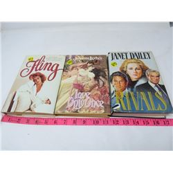 LOT OF 3 BOOKS (FLING BY PAMELA BECK, LOVE ONLY ONCE BY JOHANNA LINDSAY, RIVAL BY JANET DAILEY