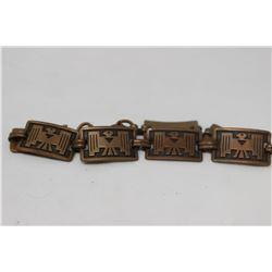 BRACELET (AZTEC DESIGN) *COPPER*
