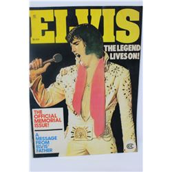 MAGAZINE (ELVIS) 'THE LEGEND LIVES ON'  *LOTS OF B/W PICTURES*