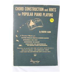 MUSIC BOOK (CHORD CONSTRUCTION & HINTS) *1943*
