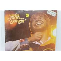 LP RECORD *AN EVENING WITH JOHN DENVER* 1 RECORD MISSING*