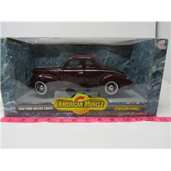1940 FORD DELUXE COUPE (DIE CAST METAL) *BOX  1 1/18*