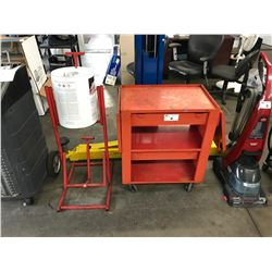 MOBILE METAL CART AND BUCKET TIPPER