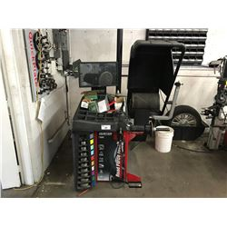HUNTER ROAD FORCE TOUCH MODEL GSP9700 COMPUTERIZED TIRE BALANCER, WITH SOFTWARE LICENSE KEY