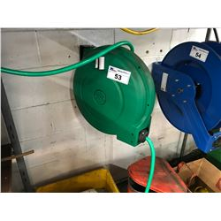 GREEN ITC WALL MOUNTED WATER HOSE REEL